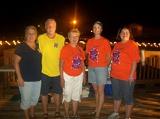 We help with Relay for Life -- August 2010